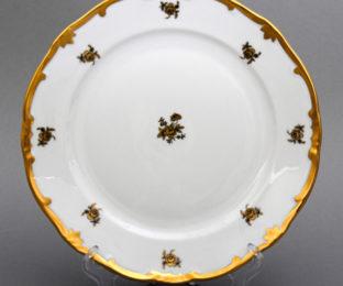 "Набор тарелок 24см. 6шт.""Роза золотая """