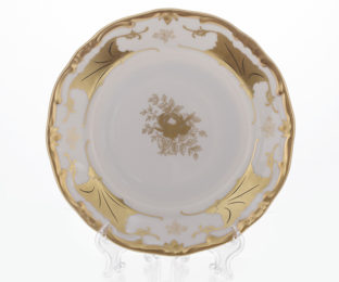 """Набор тарелок 19см.6шт.""""Кленовый лист белый"""""""