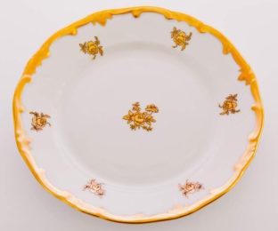 "Набор тарелок 17см.6шт.""Роза золотая"""