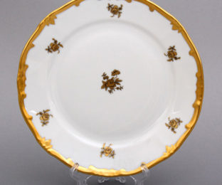 "Набор тарелок 19см.6шт.""Роза золотая"""