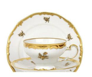 """Набор для чая на 6перс.12пред./подарочный """"Роза золотая"""""""