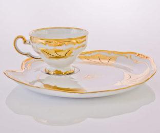 """Набор чайный на 1перс.2пред.""""Кленовый лист белый Эгоист"""""""