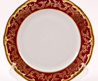 """Набор тарелок 19см.6шт  """"Ювел красный """""""