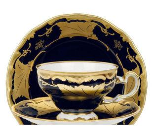 """Набор чайный на 6перс.12пред.подарочный """"Кленовый лист синий"""""""
