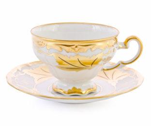 """Набор чайный на 6перс.12пред./подарочный """"Кленовый лист белый"""""""