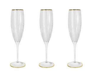 6 бокалов для шампанского Пиза золото