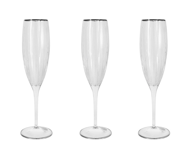 6 бокалов для шампанcкого Пиза серебро