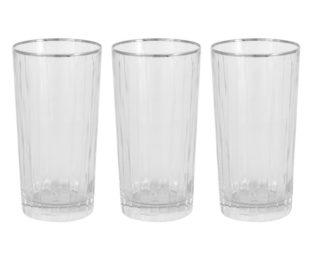 6 стаканов для воды Пиза серебро