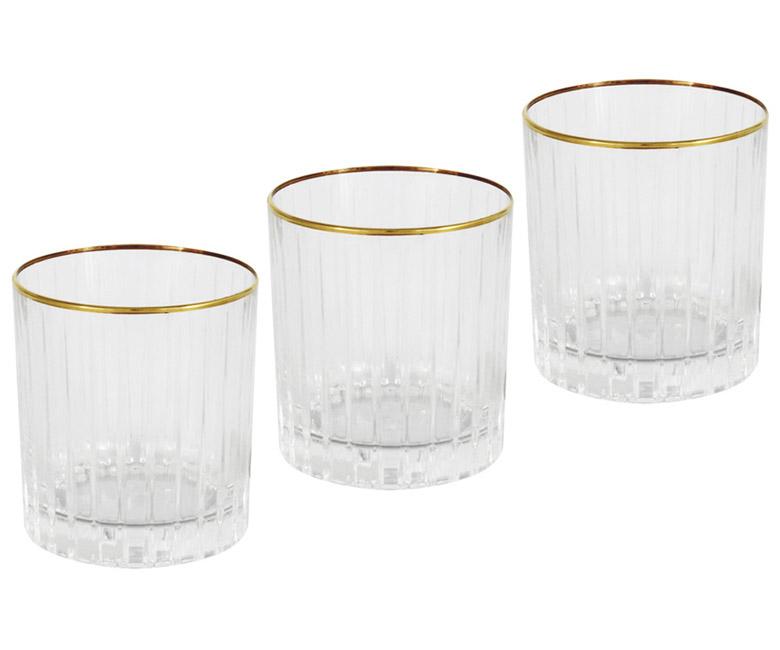6 стаканов для виски Пиза золото