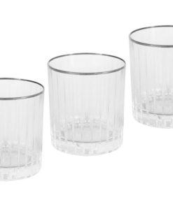 6 бокалов для виски Пиза серебро