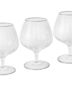 6 бокалов для коньяка Пиза серебро