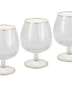 6 бокалов для коньяка Пиза золото
