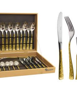 Набор столовых приборов из 25 предметов  Dubai Oro