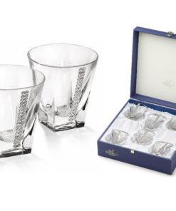 Набор из 6 бокалов для виски Регина Сваровски