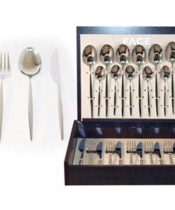 Набор столовых приборов 24 предмета на 6 персон Cosmos в деревянной коробке.