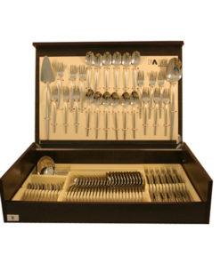 Набор столовых приборов 75 предметов на 12 персон Cosmos в деревянной коробке.
