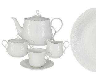 Чайниый сервиз из 17 предметов на 6 персон Шёлк