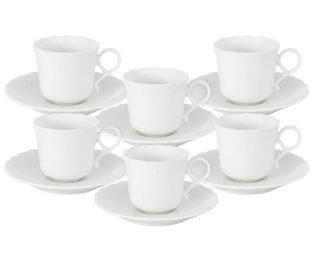 Набор: 6 чашек + 6 блюдец для кофе Шёлк