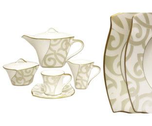 Чайный сервиз из 17 предметов на 6 персон Грегори