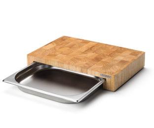 Блок мясника Continenta с метал. вставкой-подносом, цвет натуральный
