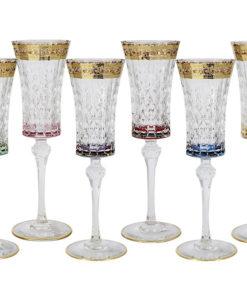 Набор: 6 бокалов для шампанского Цветная Флоренция