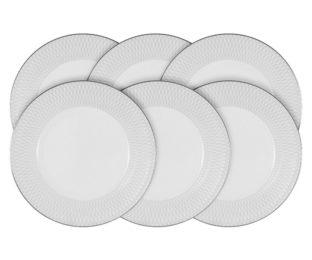 Набор из 6 десертных тарелок Бриз