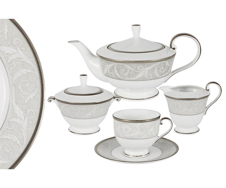 Чайный сервиз из 17 предметов на 6 персон Ноктюрн
