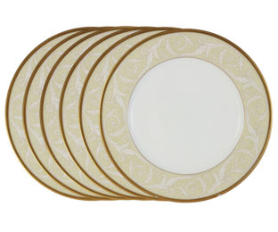 Набор из 6 обеденных тарелок Ноктюрн Голд