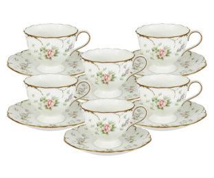 Набор: 6 чашек + 6 блюдец Воспоминание