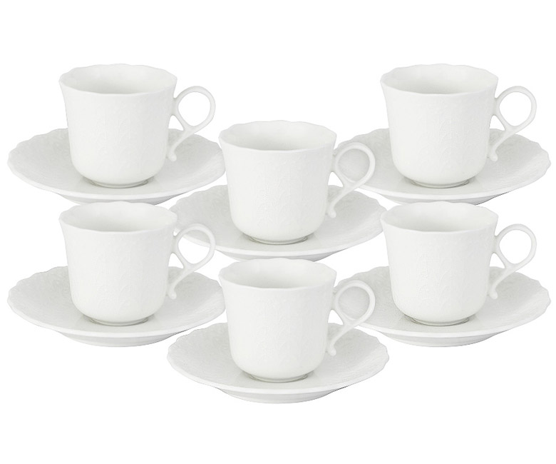 Набор: 6 чашек + 6 блюдец Шелк