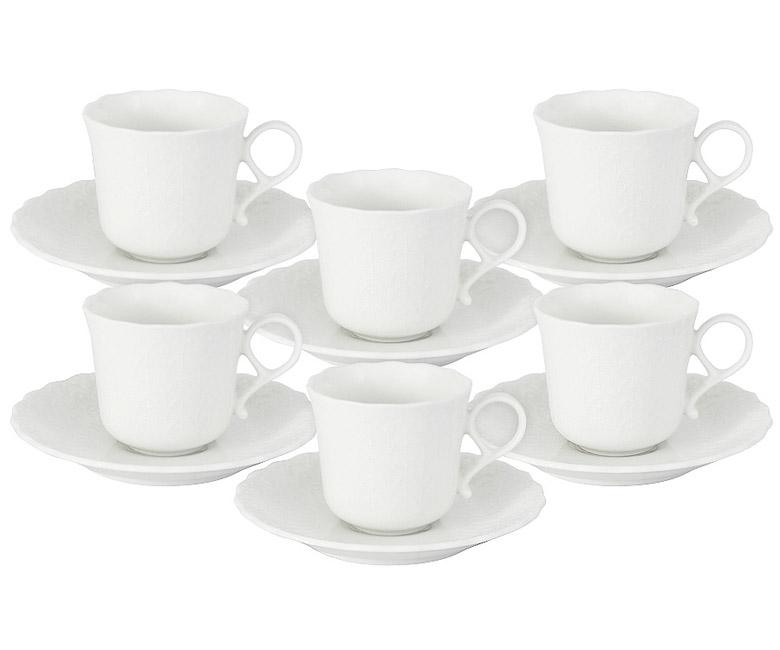 Набор: 6 чашек + 6 блюдец Шёлк