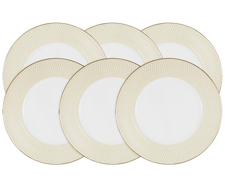 Набор из 6 обеденных тарелок Бриз Голд