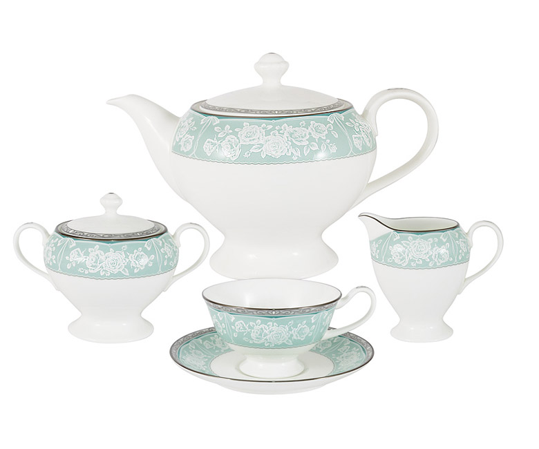Чайный сервиз из 17 предметов на 6 персон Прикосновение