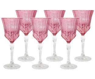 Набор: 6 бокалов для вина Адажио - розовая