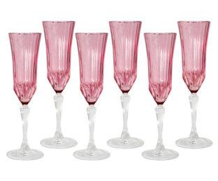 Набор: 6 бокалов для шампанского Адажио - розовая
