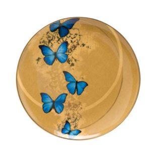 "Тарелка  ""Лазурные бабочки"""