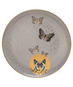 "Тарелка  ""Серые бабочки"""
