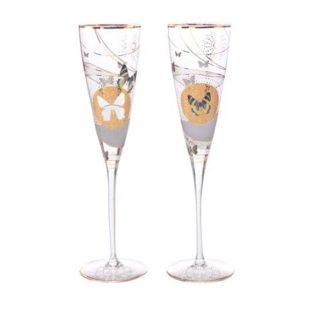"""Набор из 2 фужеров  для шампанского """"Бабочки"""" 200 мл. Лимитированный выпуск 999 шт"""