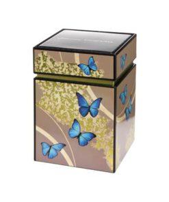 """Металлическая коробка для хранения """"Лазурные бабочки"""""""