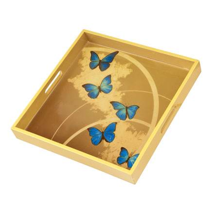 """Поднос """"Лазурные бабочки"""""""