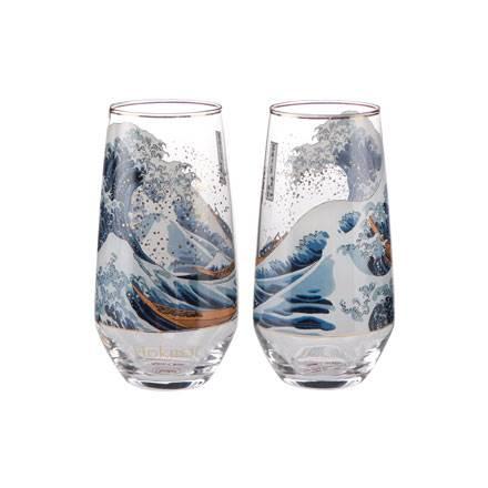 """Набор из 2 бокалов для воды """"Большая волна"""" 200 мл"""