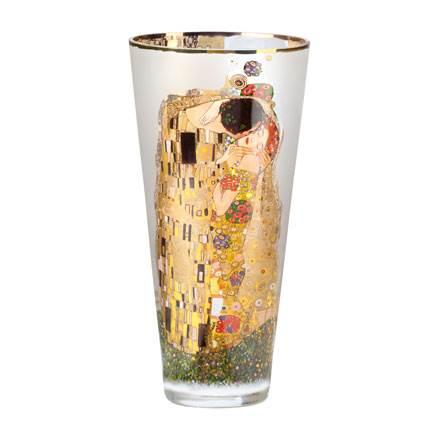 """Стеклянная ваза """"Поцелуй"""" , декорирование золотом"""