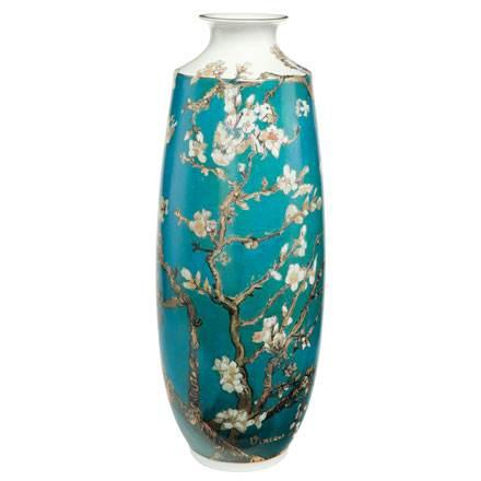 """Фарфоровая ваза большая """"Цветущие ветки миндаля"""". Лимитированный выпуск 999 шт, подтвержден сертификатом"""