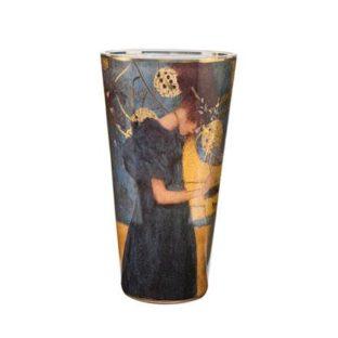 """Стеклянная ваза """"Музыка"""", декорированная золотом"""