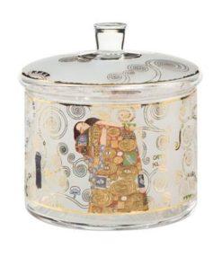 """Стеклянная банка для печенья """"Древо Жизни"""", декорированная золотом"""