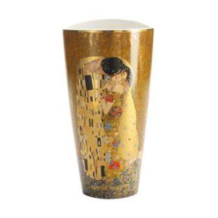 """Фарфоровая ваза""""Поцелуй"""" , декорирование золотом"""
