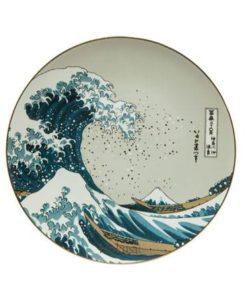 """Декоративная фарфоровая настенная тарелка """"Большая волна"""".  Лимитированный выпуск 999 шт, подтвержден сертификатом"""