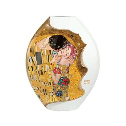 """Фарфоровая ваза """"Поцелуй"""" большая , декорирование золотом"""