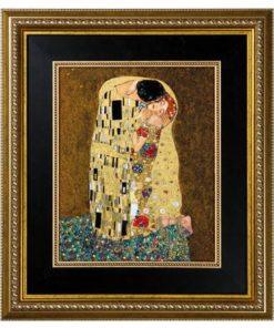 """Картина на фарфоре """"Поцелуй"""", декорированная золотом. Лимитированный выпуск 3500 шт., подтвержден сертификатом"""