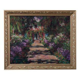 """Картина на фарфоре """"Тропинка в саду Моне"""". Лимитированный выпуск 999 шт., подтвержден сертификатом"""